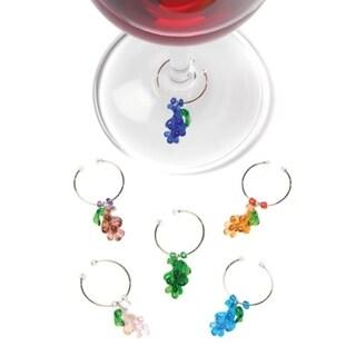 Vinifera™: Glass Grape Wine Charms