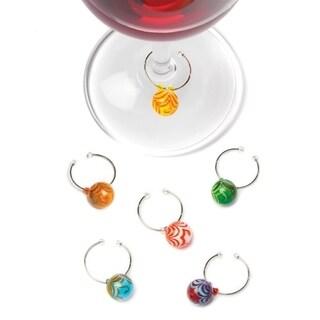 Swirl: Glass Wine Charms