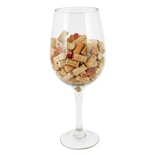 Big Bordeaux Glass Cork Holder by True