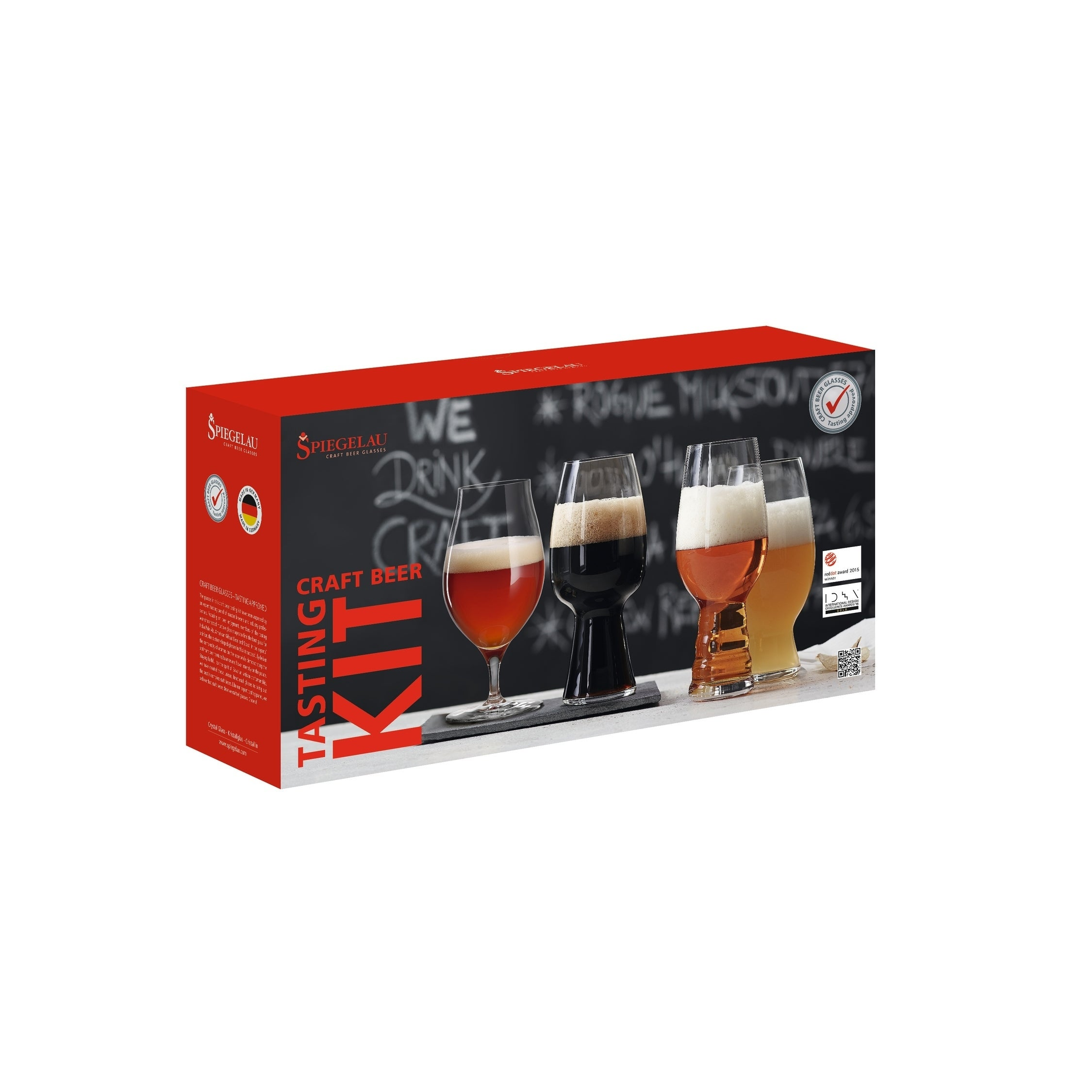 Spiegelau Craft Beer Tasting Kit (set of 4), Multi (Glass)
