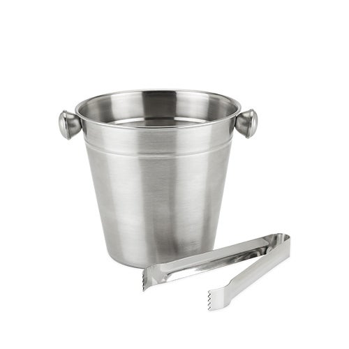 Frigid: Ice Bucket and Tongs by True, Multi (Stainless St...