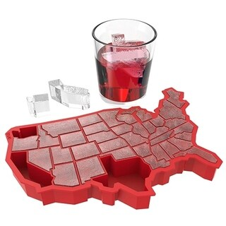 U Ice of A Red Silicone Ice Cube Tray by TrueZoo