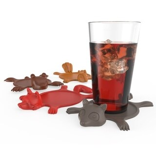 Get Smashed Silicone Animal Coasters (Set of 4) by TrueZoo