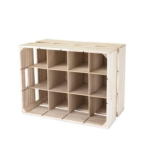 Wooden Crate Wine Rack by True, Multi