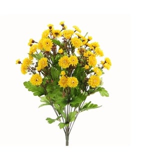 17 Stems Full Bloom Button Mum Bush for Gift Home Office Decor (Option: Thanksgiving)