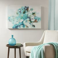 Madison Park Remeet Blue Gel Coat Canvas