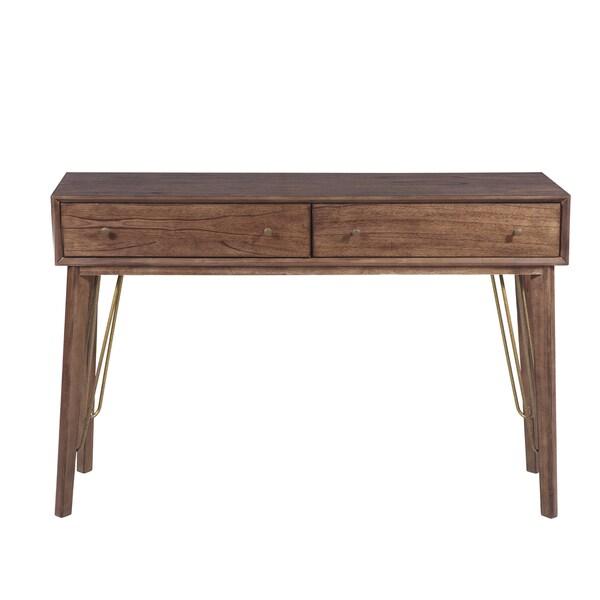 Mid Century Modern Console Table: Shop Mid-Century Modern Distressed Walnut Hardwood 2