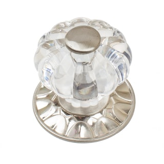GlideRite 1.25-inch Acrylic Melon Cabinet Knobs with Satin Nickel Backplate (Pack of 10 or 25)