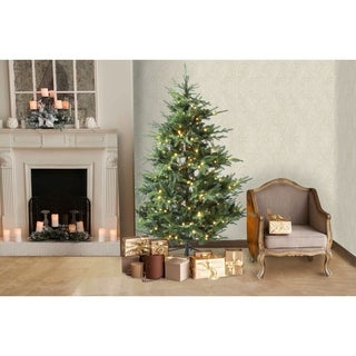 Winsome House 6 ft. Artificial Cedar Christmas Tree with Lights