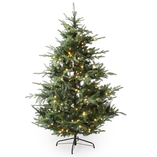 winsome house 6 ft artificial cedar christmas tree with lights - 6 Christmas Tree