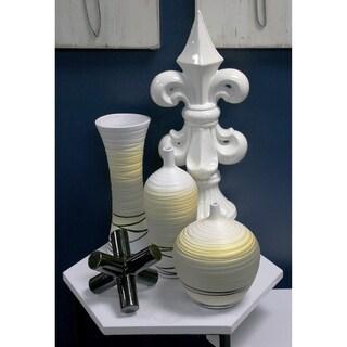 Sagebrook Home-Ceramic Vase Yellow Décor