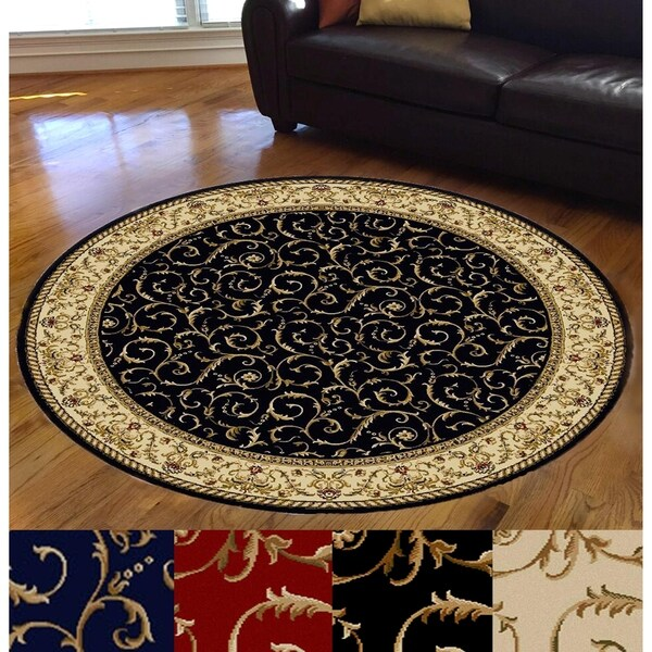 Admire Home Living Amalfi Scroll Area Rug - 8' Round