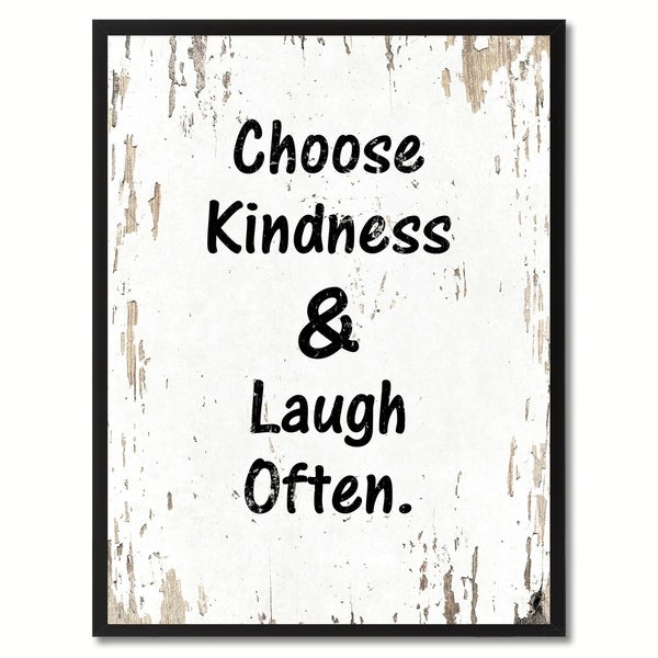 Shop Choose Kindness & Laugh Often Saying Canvas Print Picture Frame ...
