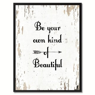 Be Your Own Kind Of Beautiful Motivation Saying Canvas Print Picture Frame Home Decor Wall Art Gifts