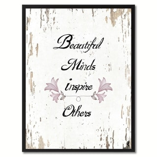 Beautiful Minds Inspire Others Motivation Saying Canvas Print Picture Frame Home Decor Wall Art Gifts