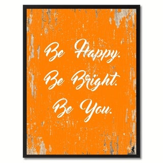 Be Happy Be Bright Be You Motivation Saying Canvas Print Picture Frame Home Decor Wall Art Gifts