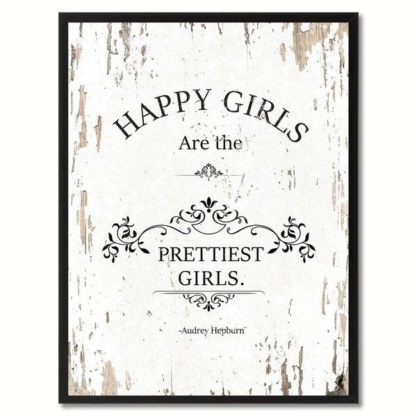 Shop Happy Girls Are The Pretties Audrey Hepburn Saying
