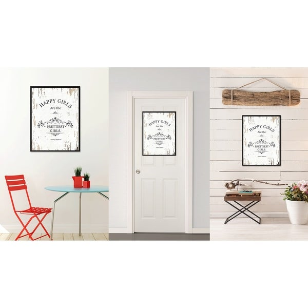 Audrey Hepburn Stretched Canvas Print Framed Wall Art Fashion Shop Decor Gift