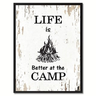 Life Is Better At The Camp Saying Canvas Print Picture Frame Home Decor Wall Art Gifts