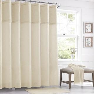 Five Queens Court Sonia Semi-Sheer Crochet Trim Shower Curtain
