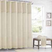 Five Queens Court Sonia Semi-Sheer Crochet Trim Shower Curtain