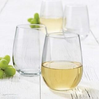 Libbey Vina 4-piece Stemless White Wine Glass Set