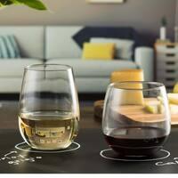Libbey Stemless 12-piece Wine Glass Set
