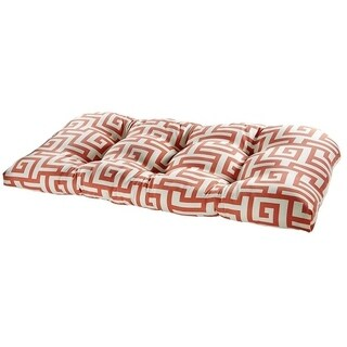Athens Coral Outdoor Settee Cushion