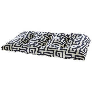 Athens Navy Outdoor Settee Cushion