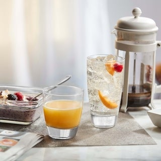 Link to Libbey Classic 16-Piece Glass Tumbler and Rocks Set Similar Items in Glasses & Barware