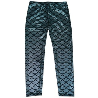 Simplicity Kids Mermaid Fish Scale Print Full Length Legging Pants (2 options available)