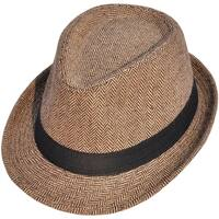 Unisex Structured Wool Felt Blend Fedora Hat