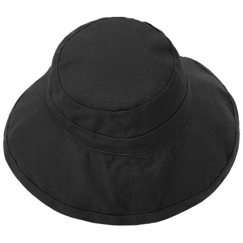 a87a2d943ef1a Women's Foldable Cotton Wide Brim Bucket Hat with Sun Protection