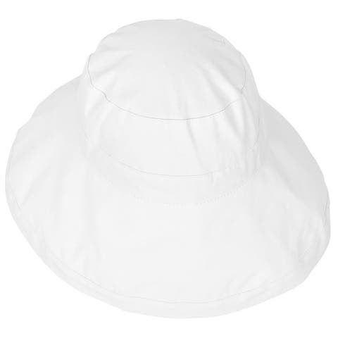 Women's Foldable Cotton Wide Brim Bucket Hat with Sun Protection