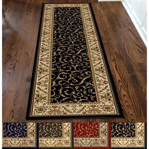 Admire Home Living Amalfi Transitional Scroll Pattern Area Rug. Opens flyout.