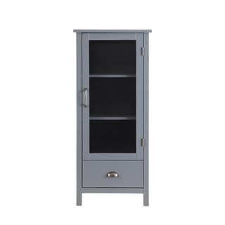 Small Wood Pantry (Option: Grey)