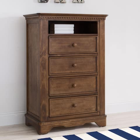 Simmons Kids Tivoli 4 Drawer Chest w/Cubby, Antique Chestnut