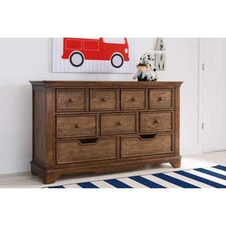 Simmons Kids Tivoli 9 Drawer Dresser, Antique Chestnut