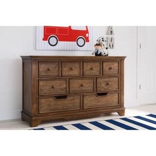 Simmons Kids Tivoli 9 Drawer Dresser, Antique Chestnut