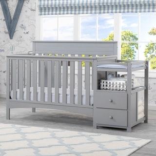 Delta Children Presley Convertible Crib N Changer, Grey