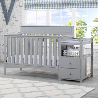Delta Children Presley Convertible Crib N Changer, Grey (3 options available)