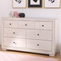 Simmons Kids Ravello 7 Drawer Dresser, Antique White