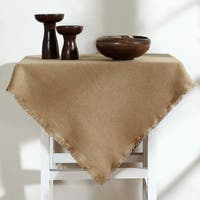 Burlap Fringed Table Topper