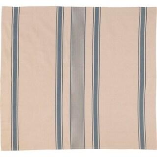 Farmhouse Tabletop Kitchen VHC Charlotte Table Topper Cotton Linen Blend Striped - 37x40