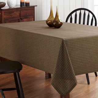 Tea Cabin Green Plaid Table Cloth