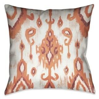 Laural Home Coral Tie Dye II Indoor-Outdoor Decorative Pillow