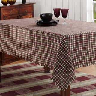 Everson Plaid Burlap Table Cloth