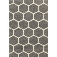 "Geometric Honeycomb Shag Area Rug - 7'10"" x 10'"