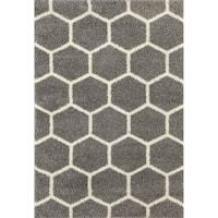 Geometric Honeycomb Shag Area Rug - 7'10 x 10'