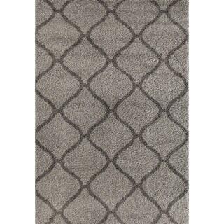 Moroccan Geometric Shag Area Rug - 7'10 x 10'